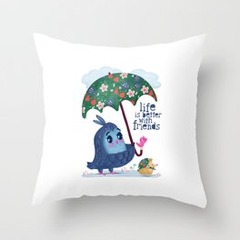 Life is Better with Friends Throw Pillow