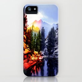 Colorado Flag/Landscape iPhone Case