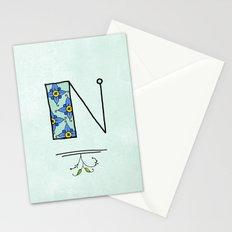 N n Stationery Cards