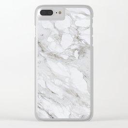 Calacatta Marble Clear iPhone Case