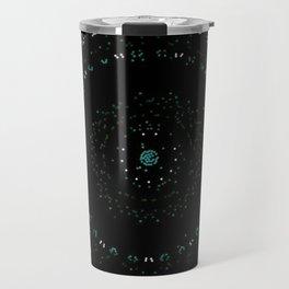 Pixel Dust Black Mandala Travel Mug