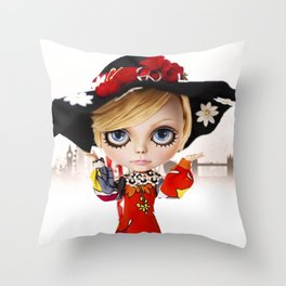 Erregiro Blythe Custom Doll Twiggy Throw Pillow