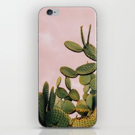 Cactus on Pink Sky iPhone Skin