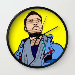 Röyksopp Forever Roy Lichtenstein Inspired Portrait 1 Wall Clock