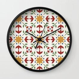 Starflower Quilt Pattern Wall Clock