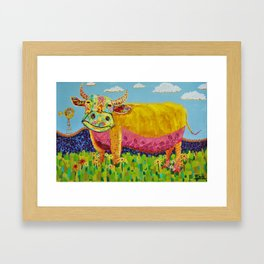 Happy Cow Framed Art Print