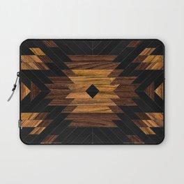 Urban Tribal Pattern No.7 - Aztec - Wood Laptop Sleeve