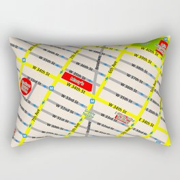 New York map design - empire state building area Rectangular Pillow
