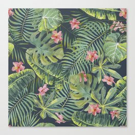 Palm Leaves Pattern 13 Canvas Print