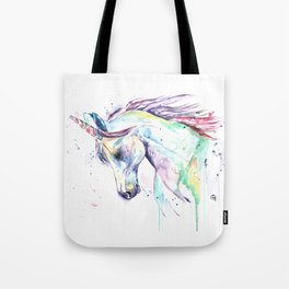 Colorful Unicorn Watercolor Painting - Kenzie's Unicorn Tote Bag