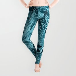 Blue Energy Leggings