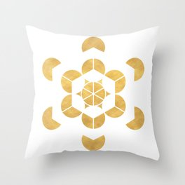 HEXAHEDRON CUBE sacred geometry Throw Pillow