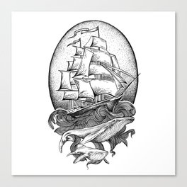 GUIDED BY WHALES Canvas Print