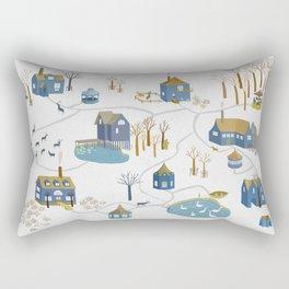 BLUE VILLAGE Rectangular Pillow