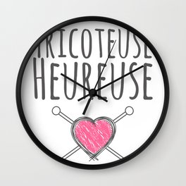 Tricoteuse Heureuse Wall Clock
