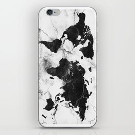 world map marble 3 iPhone Skin