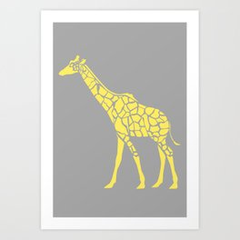 Geometric Safari - Giraffe Art Print