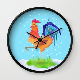 New Year rooster 2017 Wall Clock