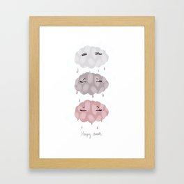 pink clouds Framed Art Print