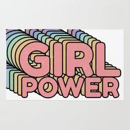 Girl Power grl pwr Retro Rug