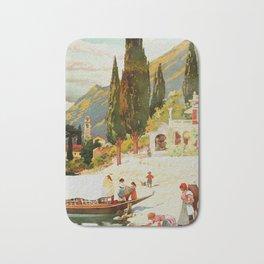 Switzerland and Italy Via St. Gotthard Travel Poster Bath Mat