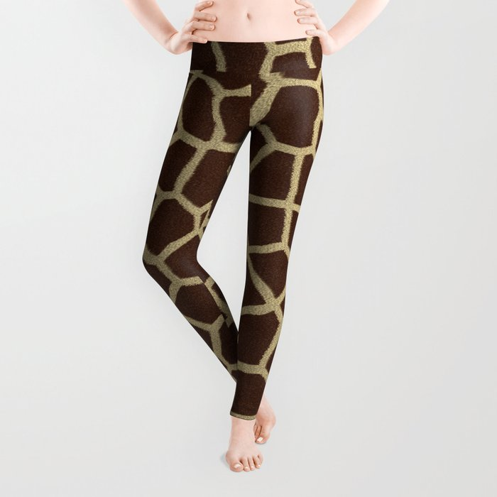 Giraffe Print Pattern Leggings