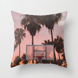 Venice Beach Sunset Ballin' Throw Pillow