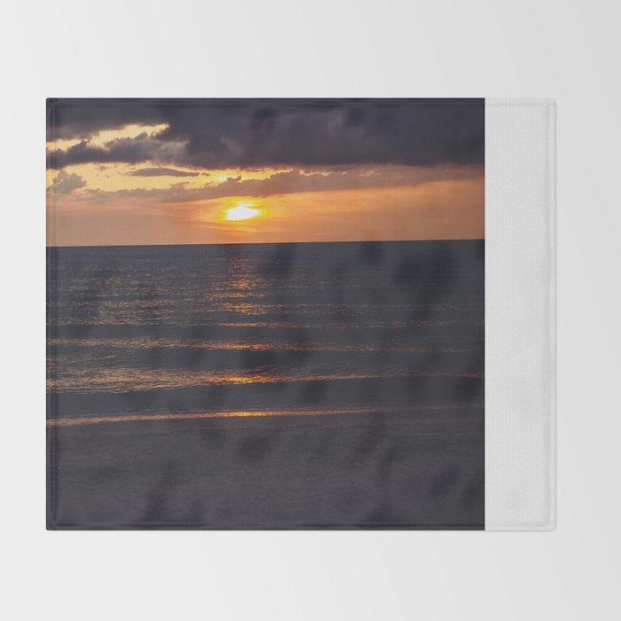 Sunset On Clearwater Beach, FL Throw Blanket