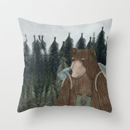 exploring time Throw Pillow