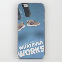 Whatever Works, Woody Allen, Larry David, humor, fun, tv series Movie, poster, alternative, minimal iPhone Skin