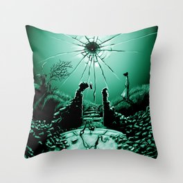 Abandoned Tower Poster Art Throw Pillow