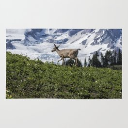 Deer Heading Up the Mountain, No. 1 Rug