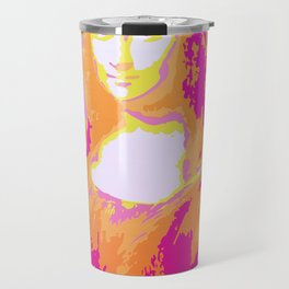 Monna Lisa in Pink/Yellow Travel Mug