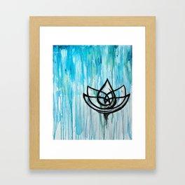 Lotus in the Rain I Framed Art Print