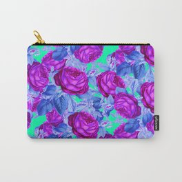Blacklight Roses Carry-All Pouch