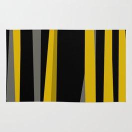 yellow gray and black Rug