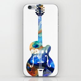 Vintage Guitar - Colorful Abstract Musical Instrument iPhone Skin