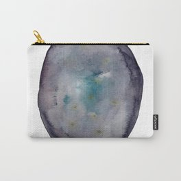 Gold Specks Agate Watercolor Carry-All Pouch