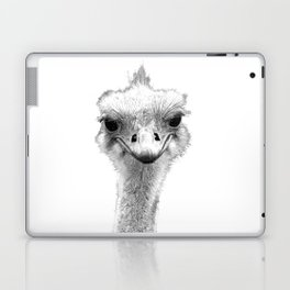 Black and White Ostrich Illustration Laptop & iPad Skin