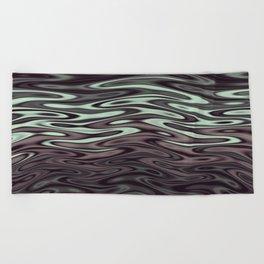 Ripples Fractal in Mint Hot Chocolate Beach Towel