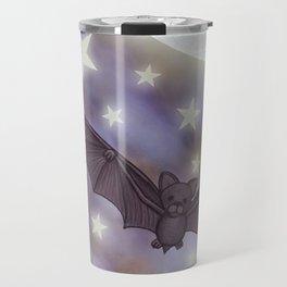 the moon, stars, bats, & calla lilies Travel Mug