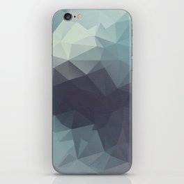 Polygon pattern . Triangles with a texture craquelure . 2 iPhone Skin