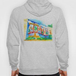 Greetings From Austin Mural watercolor Hoody