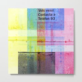 Foreshortened entropy, negated co-existence, door. [CMYK] Metal Print
