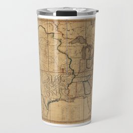 Map of the United States by John Melish (1818) 3rd State Travel Mug