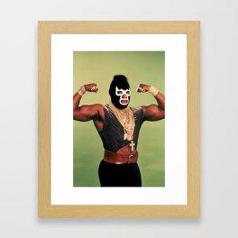 Lucha T Framed Art Print