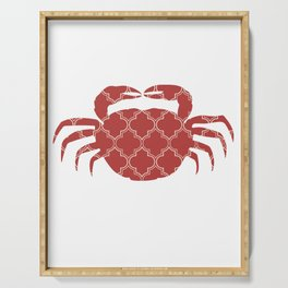 CRAB SILHOUETTE WITH PATTERN Serving Tray