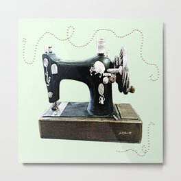 Stitches and Work Metal Print