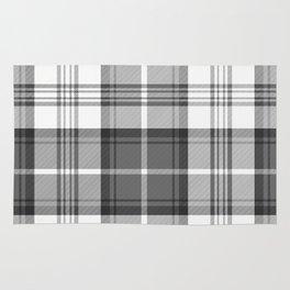 Black & White Tartan Rug