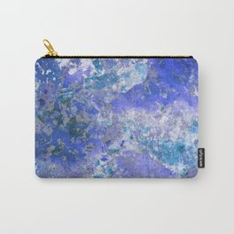 Cornflower Blue Abstract Painting Carry-All Pouch